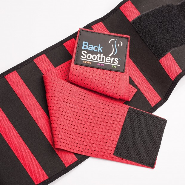 BackSoothers BackPro Massaging Lumbar Lower Back Support